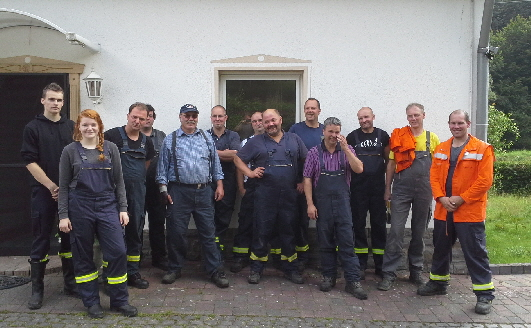 Die Kameraden der freiwilligen Feuerwehr Heckenbach