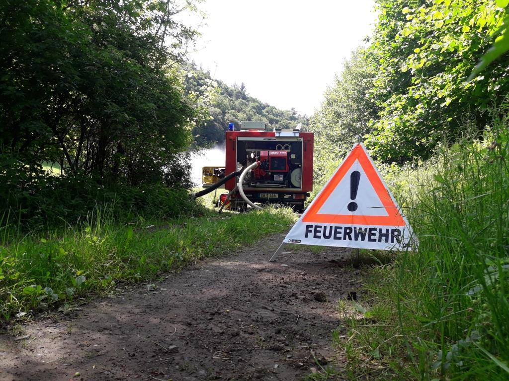 Übung Freiwillige Feuerwehr Heckenbach