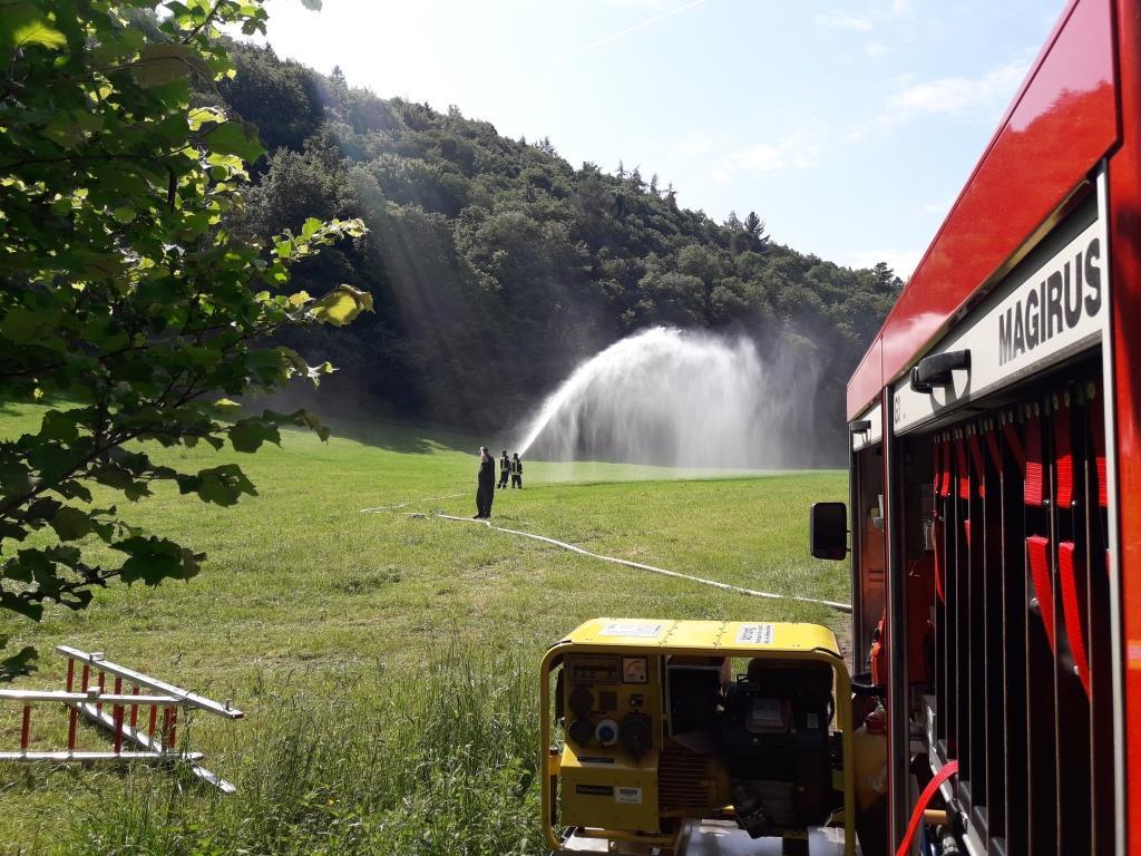 Übung Watzel Freiwillige Feuerwehr Heckenbach